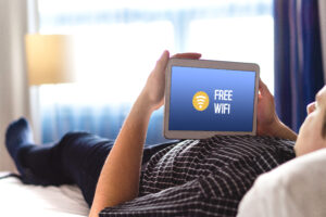 Contactless technology hotel room